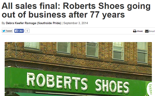 Roberts-shoes-out-of-business
