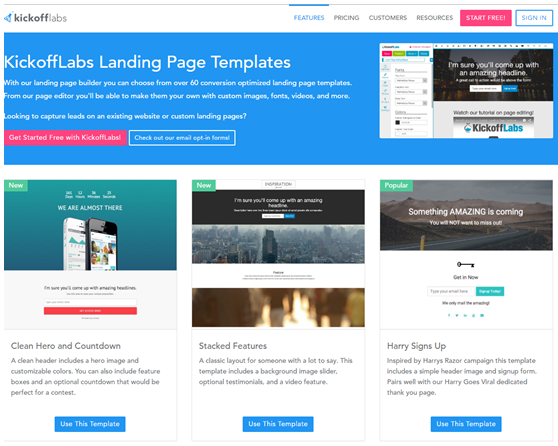 The Best Landing Page Builder Software Reviews That Boost - Video landing page templates