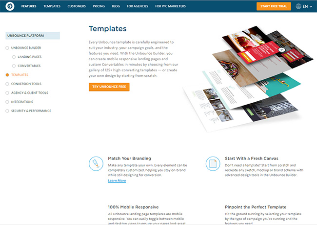 review page template