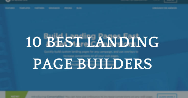 10 Best Landing Page Builder Software Reviews