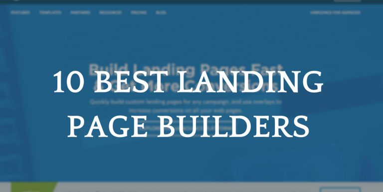 The 10 Best Landing Page Builder Software Reviews