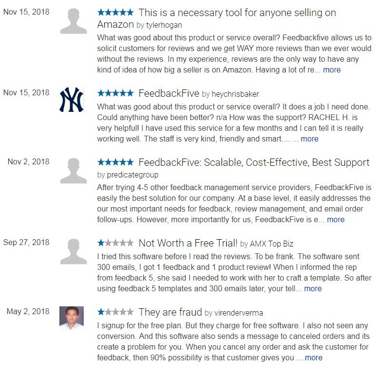 Feedback Five has slightly more positive reviews than Feedback Genius
