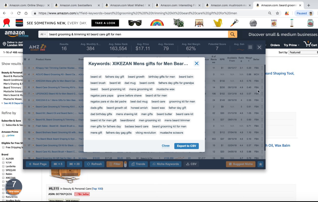 AMZScout helps you to find the best keywords