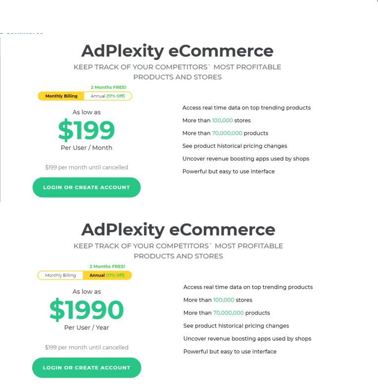 Adplexity E-commerce allows you to gauge data for more than 70 million products