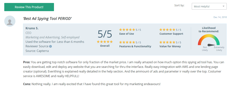 Anstrex has receive stellar reviews all around