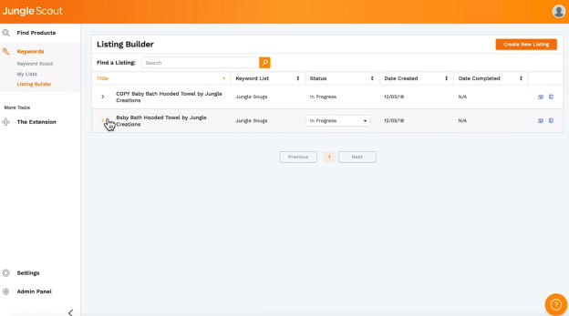 Product tracking on Jungle Scout allows for you to know inventory levels for various products