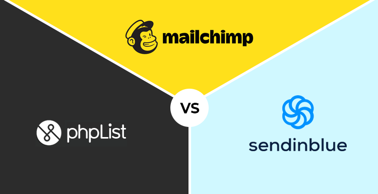 MailChimp Vs PHPList Vs Sendinblue